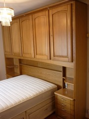 Over bed cupboard and 2 x wardrobe