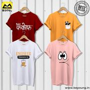 Grab Trendy T shirts for Men Online India at Beyoung